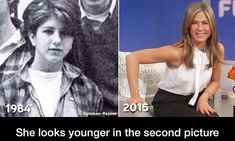 Jennifer Aniston, forever young