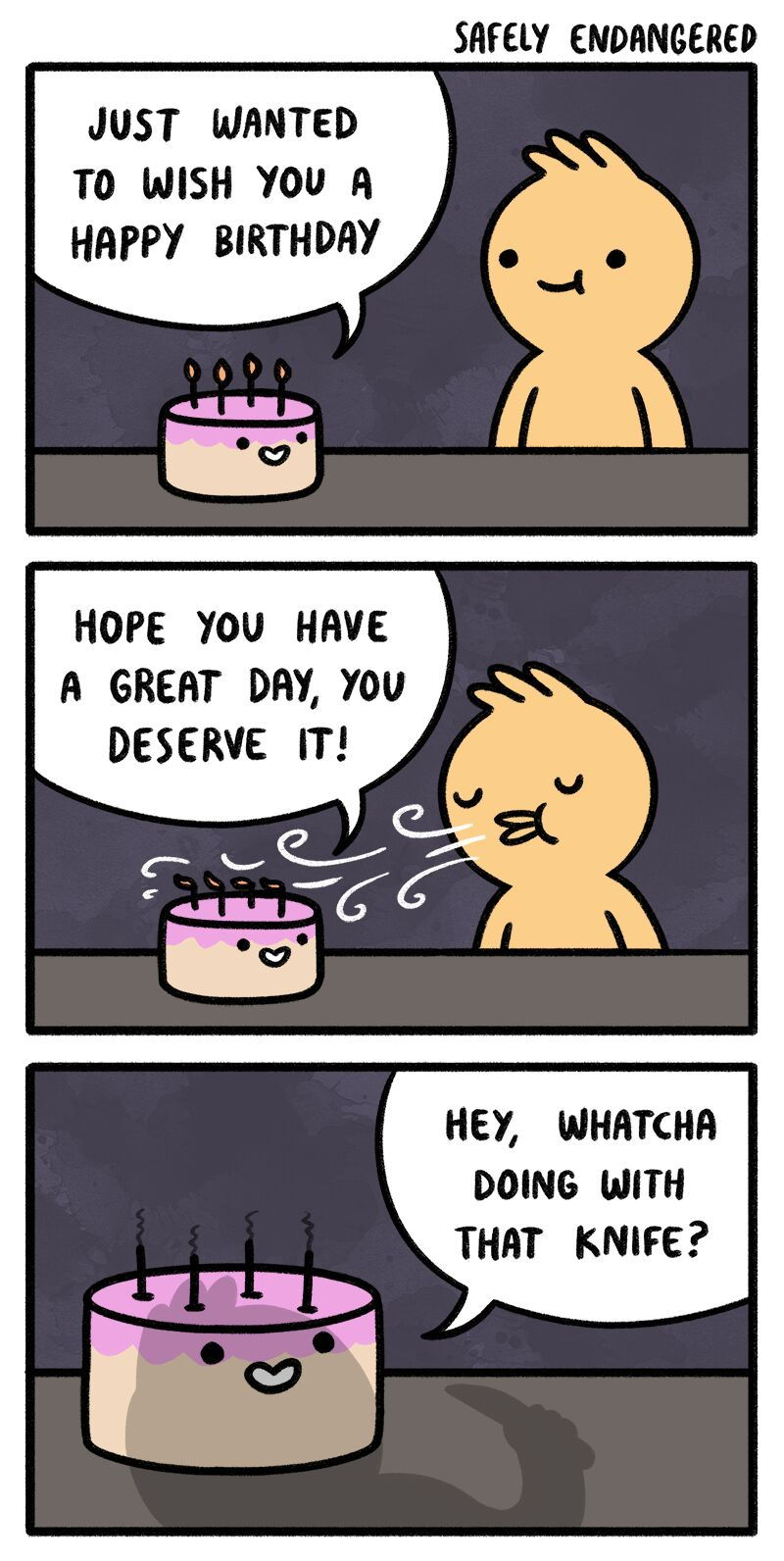 he's gonna murder the cake
