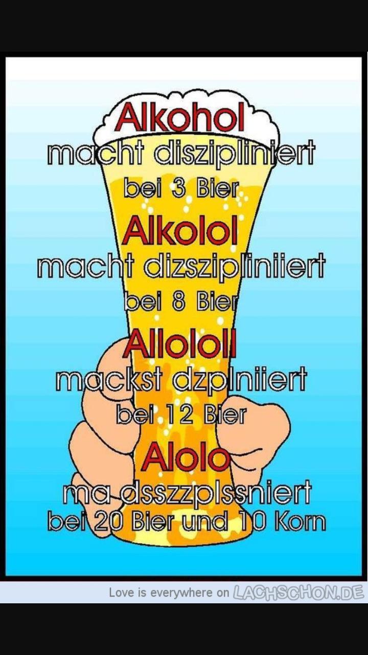 Alkohol macht diszipliniert - Meme by MichiHuber :) Memedroid