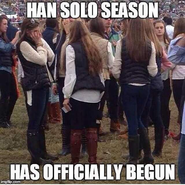 Image result for basic white girl han solo