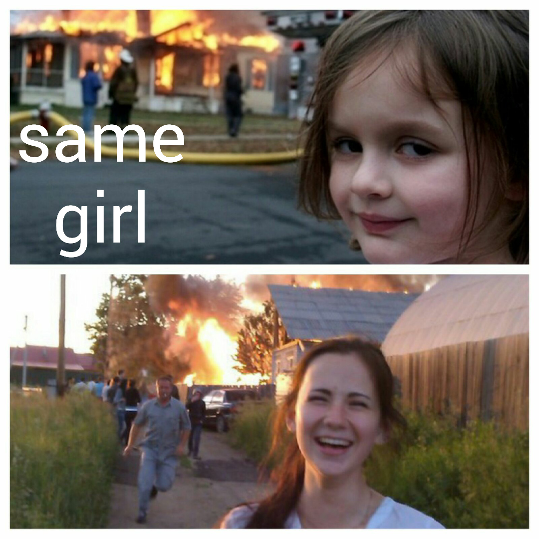 Pyromaniac Kid memes | quickmeme |Evil Girl Burning House Meme