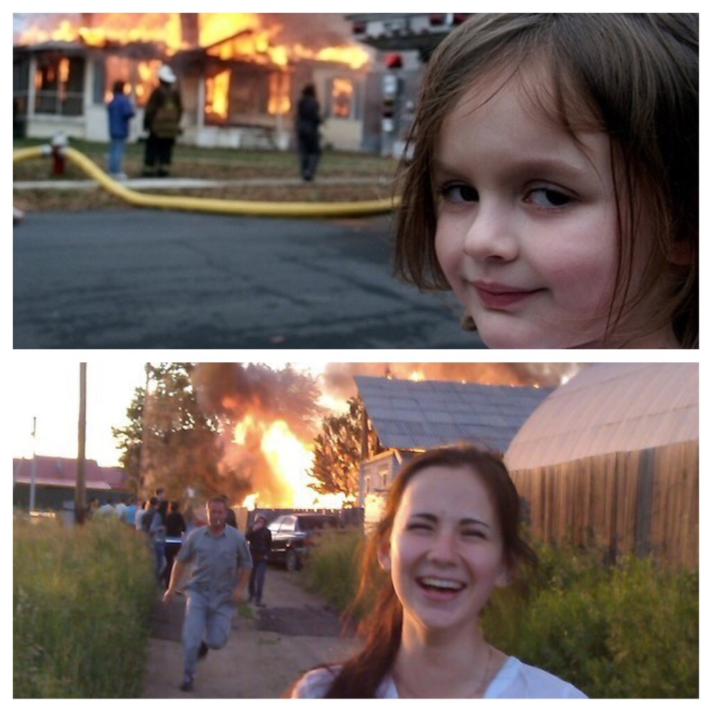 Disaster girl all grown up - Meme by jdyablo666 :) Memedroid