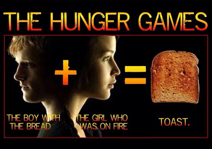 bread and hunger games The bread in the hunger games is a biblical allusion to the body of christ the bread serves to feed and nurture people, as the author tries to allude that christ does as well.