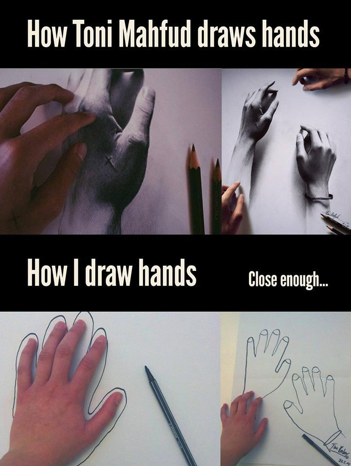 How I draw hands...
