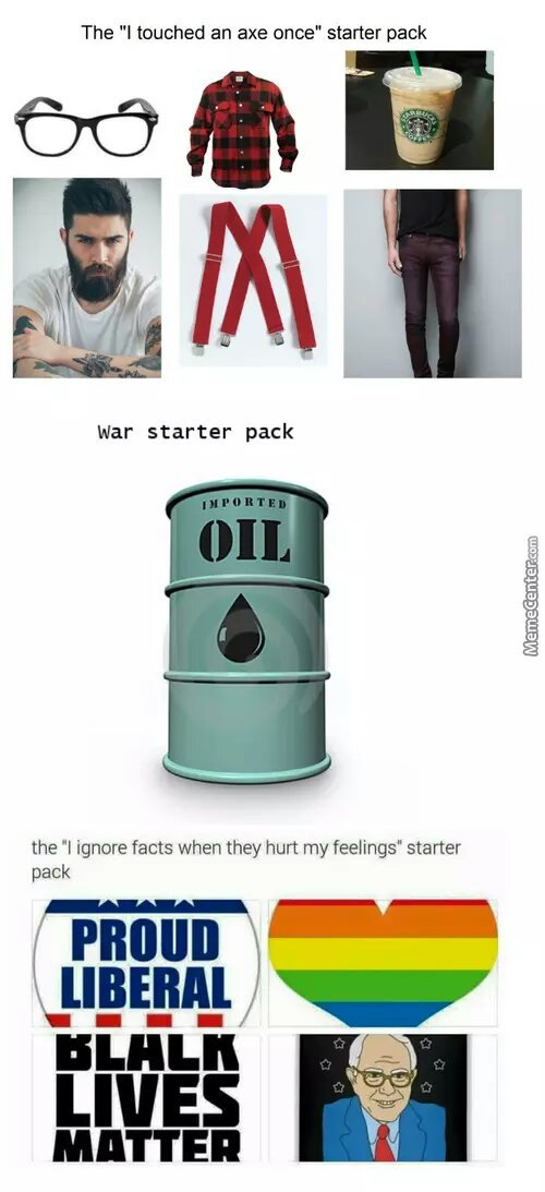 I Touched An Axe Starter Pack Meme By Ahadsy5 Memedroid