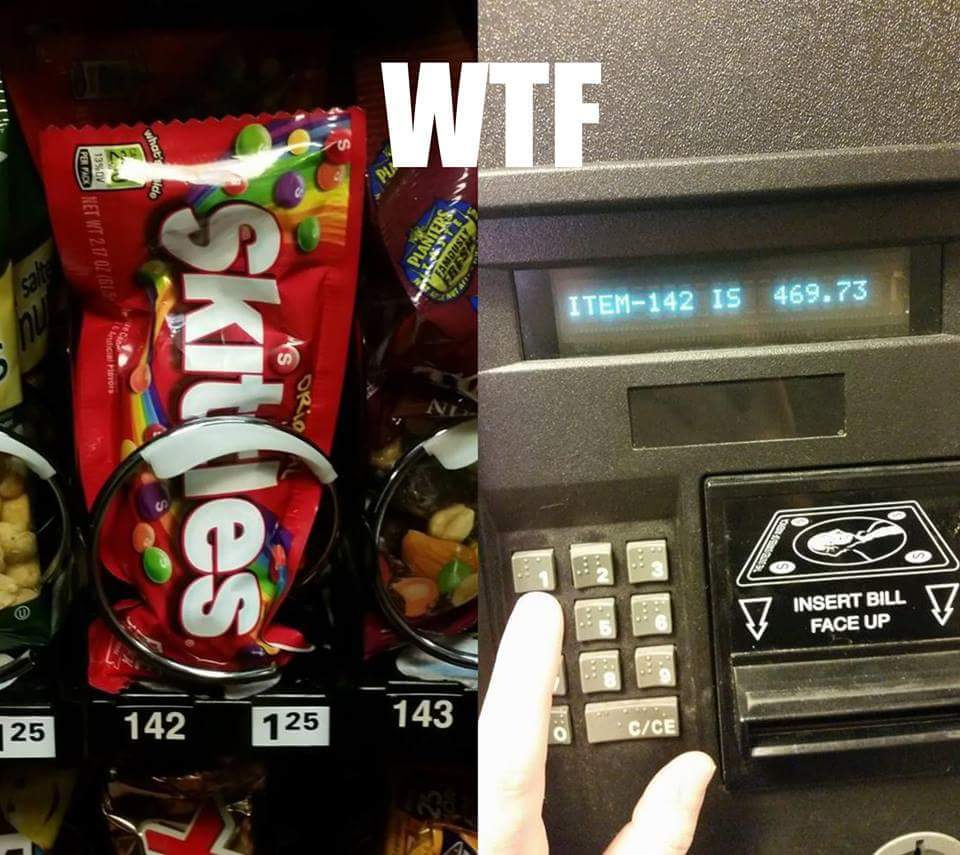 stealing from a vending machine