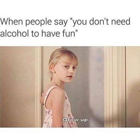 do you need alcohol to have fun meme by peebee memedroid