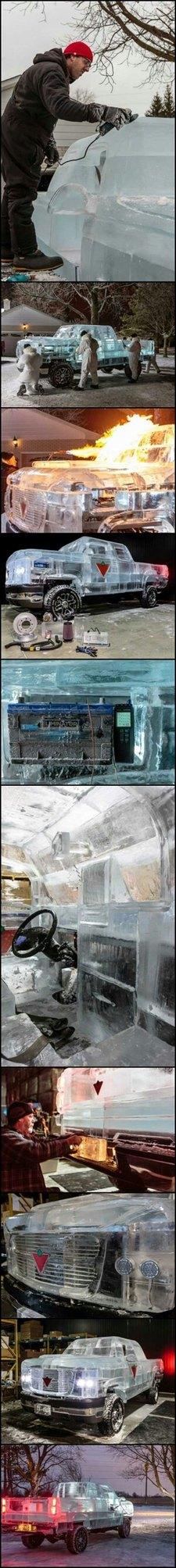 carro de gelo: no Brasil não duraria 1 min.