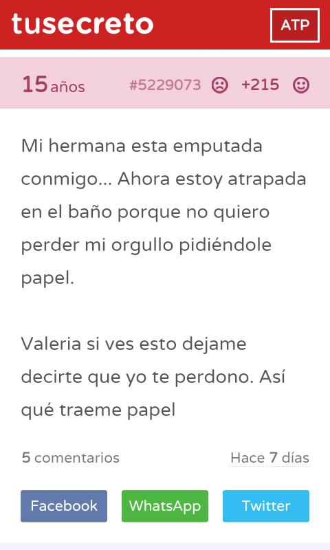 Trae papel por favor