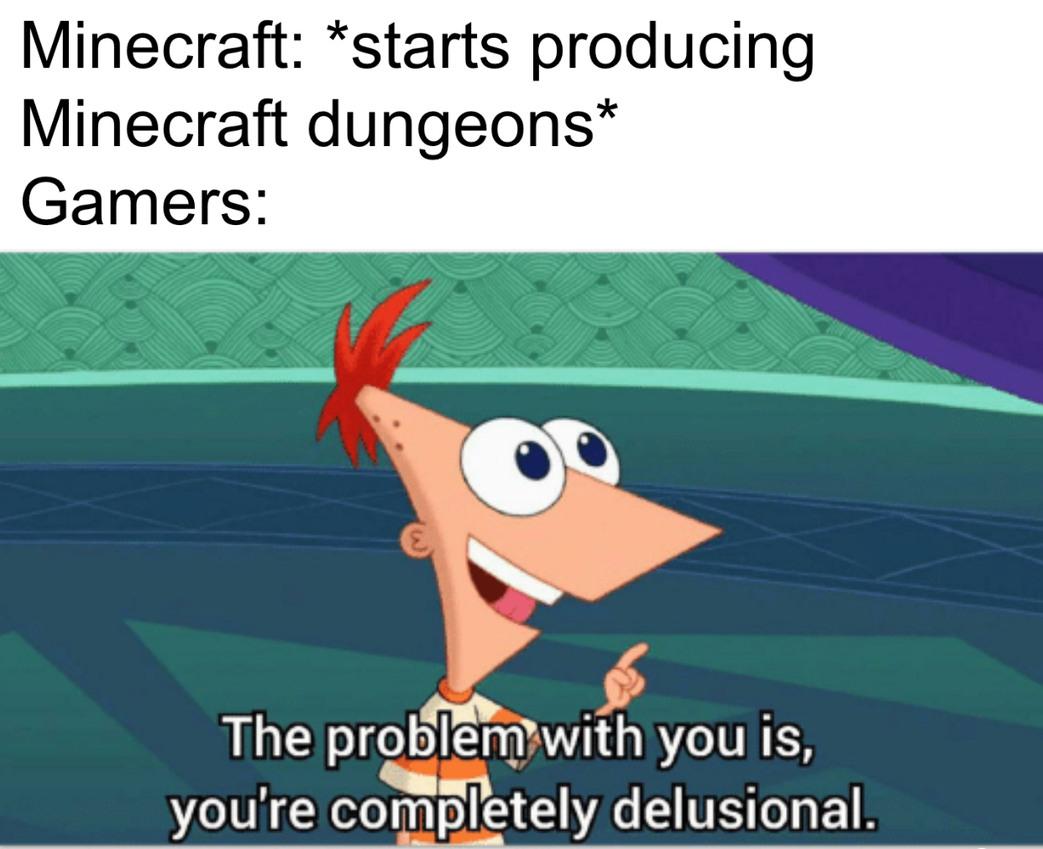 Minecraft Because Meme By Wywyw36 Memedroid