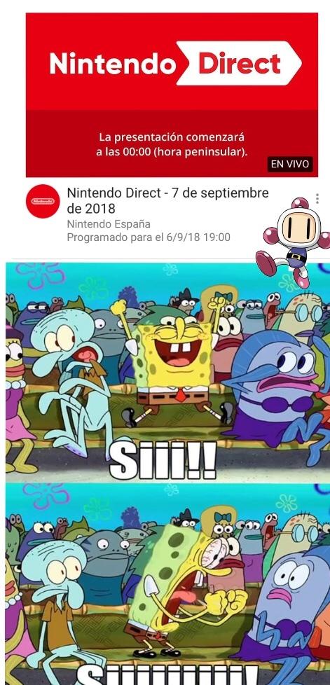 AL FIN UN NINTENDO DIRECT!!! - Meme by Epe 28-crack_ :) Memedroid