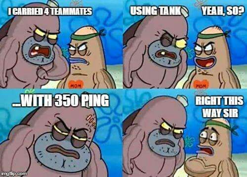 As a guy who has to play from India on Eu or NA servers