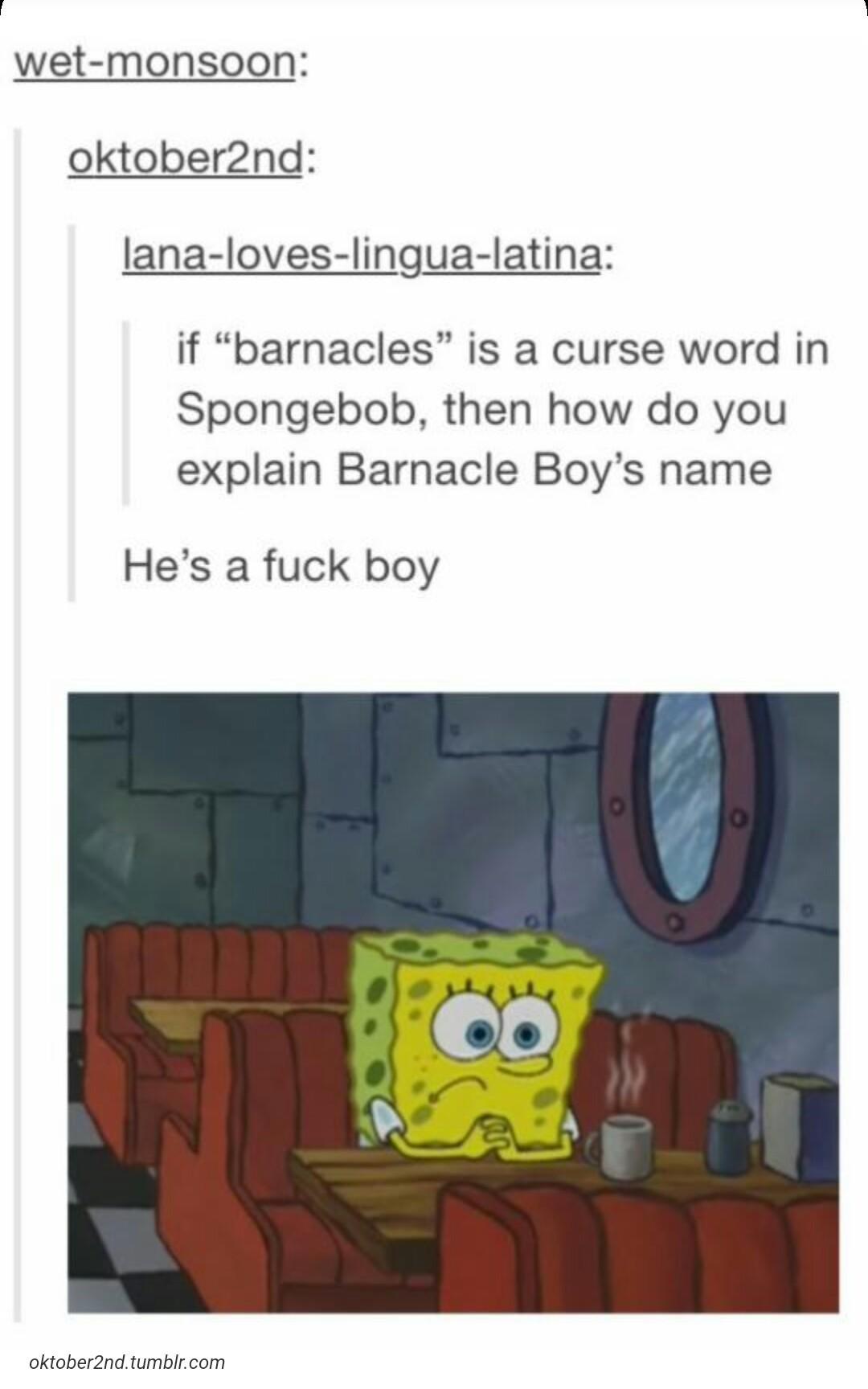 spongebob blowing meme