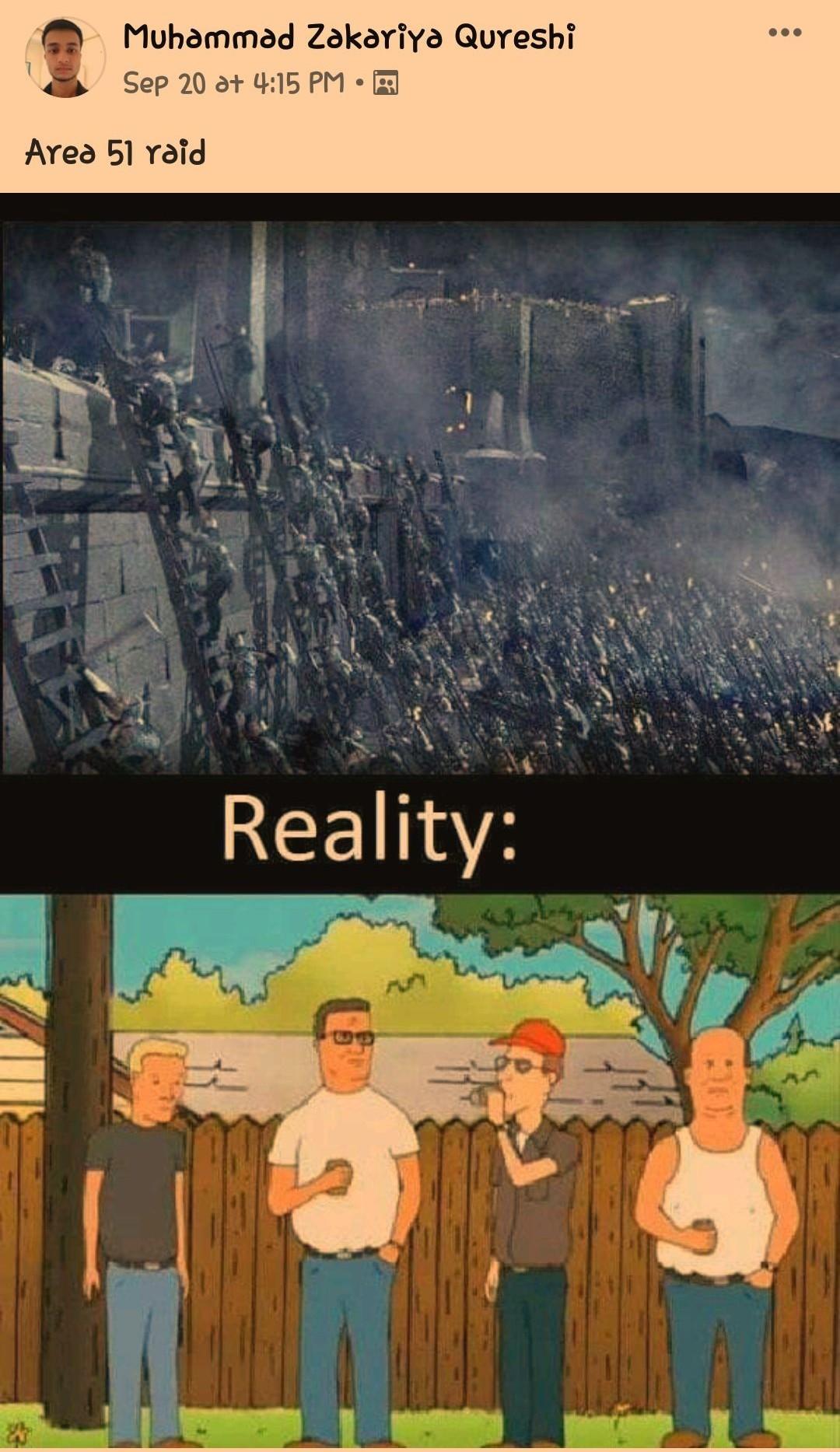 Area 51 raid - Meme by SlenderJack07 :) Memedroid