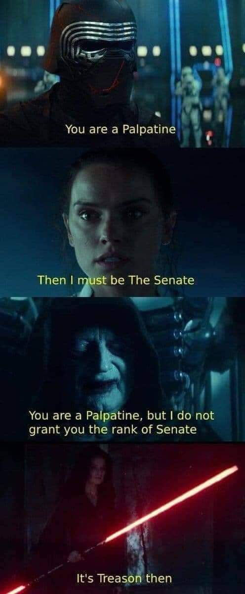 It S Treason Then Meme By Flamingacorn108 Memedroid Sensing an opportunity to replace his hobbled disciple with a younger and stronger pupil, sidious tried to turn the aspiring jedi to the dark side and even manipulated him. memedroid