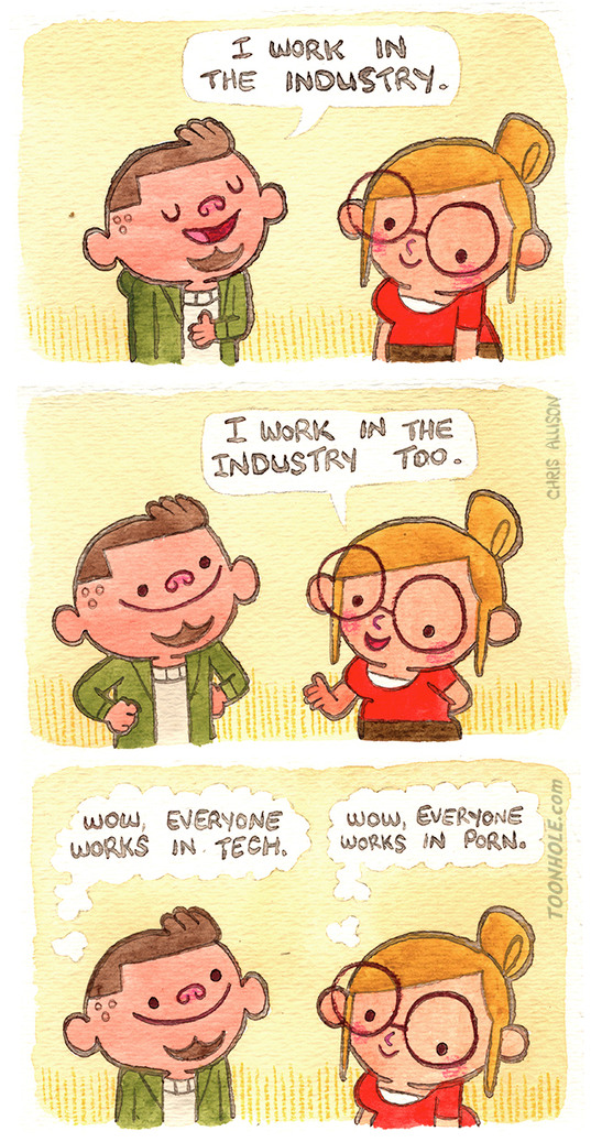 I work in neither of the industries