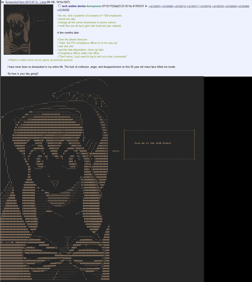 dongs in the ascii - Meme by batchc :) Memedroid