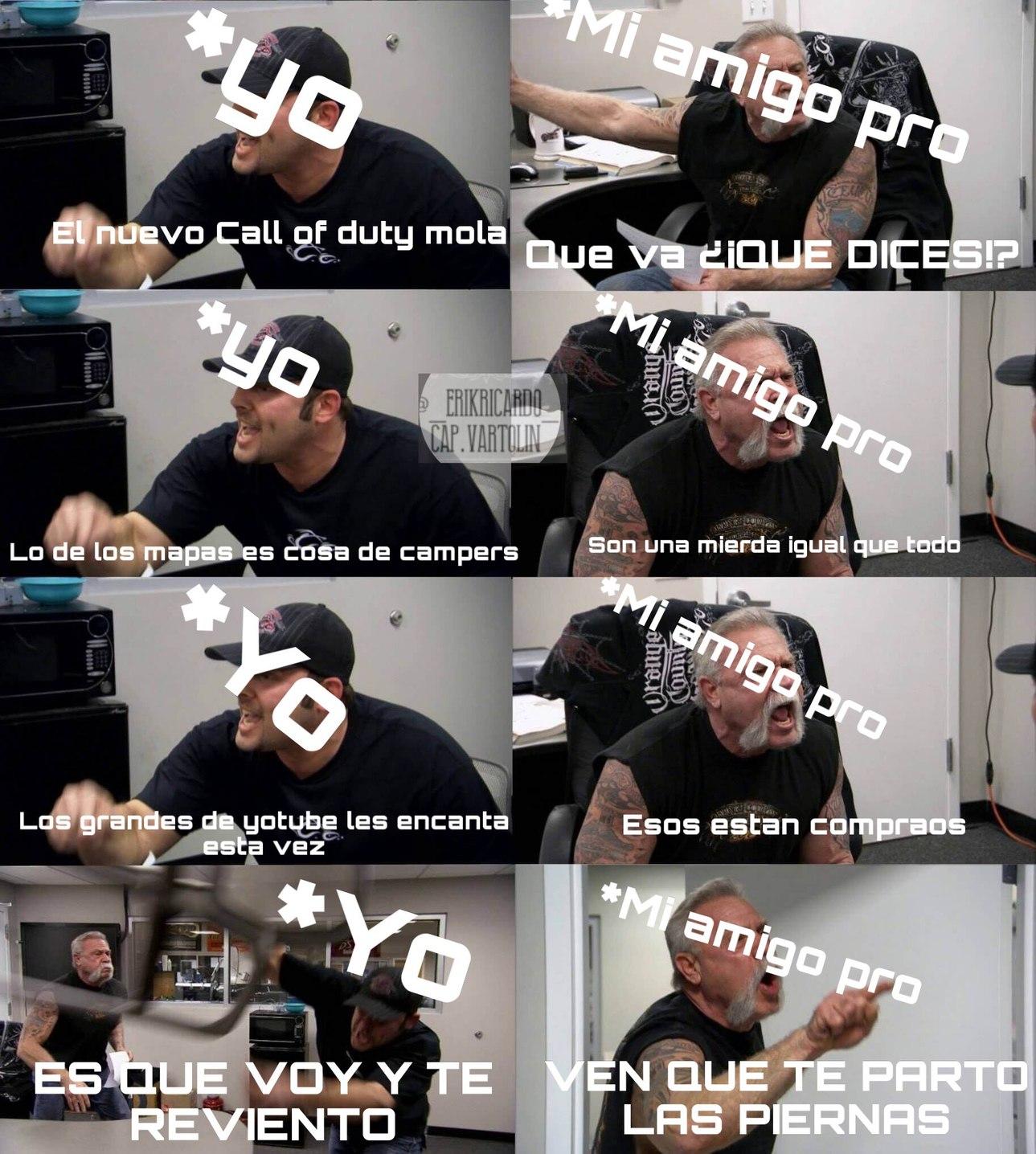 Yo Y Mi Amigo Discutiendo De Call Of Duty Meme Subido Por Cap Vartolin Memedroid