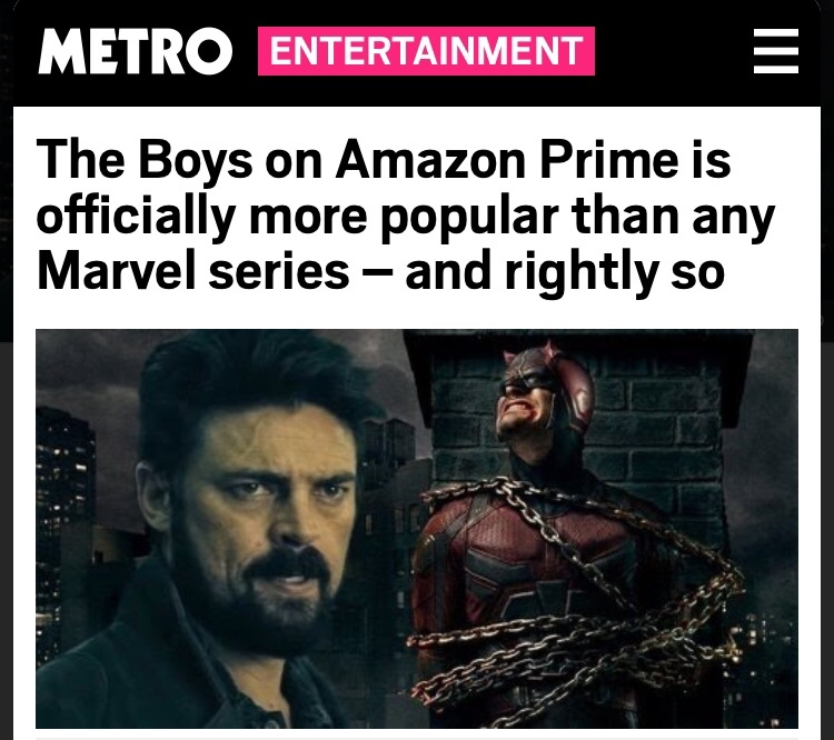 Not Even Surprised Even Dc Has Better Shows Than Marvel Meme