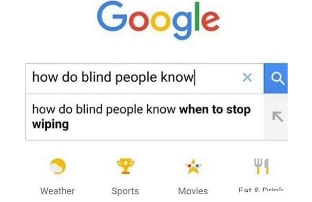 Poor blind people