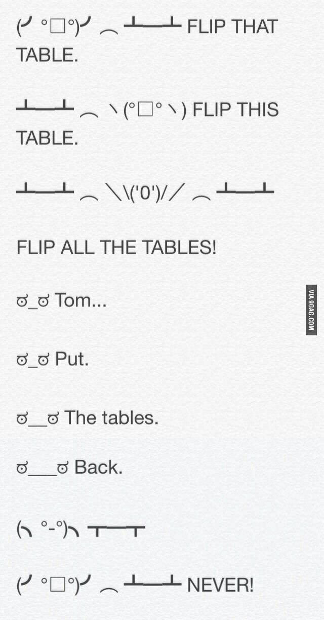 Table Flip Meme By Lonewolf Memedroid - Flip this table flip that table
