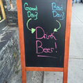 I thought it said drunk beer... Maybe I'm drunk.....