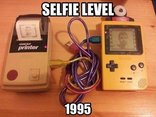 Selfie nivel: 1995 - meme