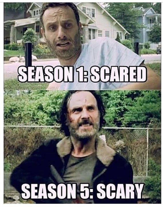Evolution of Rick Grimes. - meme