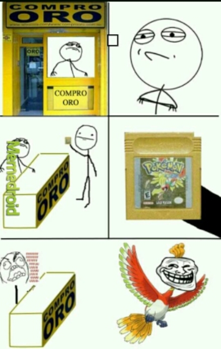 La cartuccia è Pokemon versione oro - meme