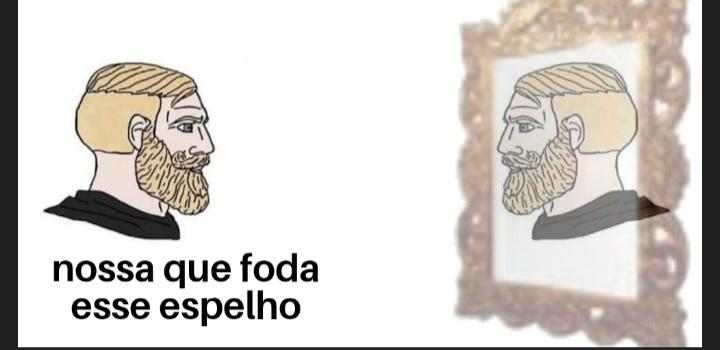 Chad do espelho - meme