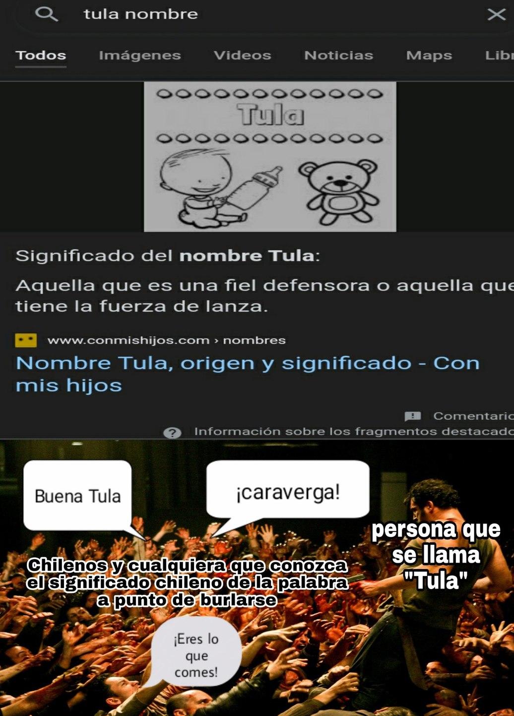 Investigue y la palabra Tula tiene mil significados watafak - meme