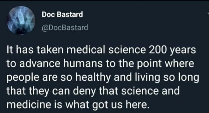 200 years of medicine vs some anti vax memes