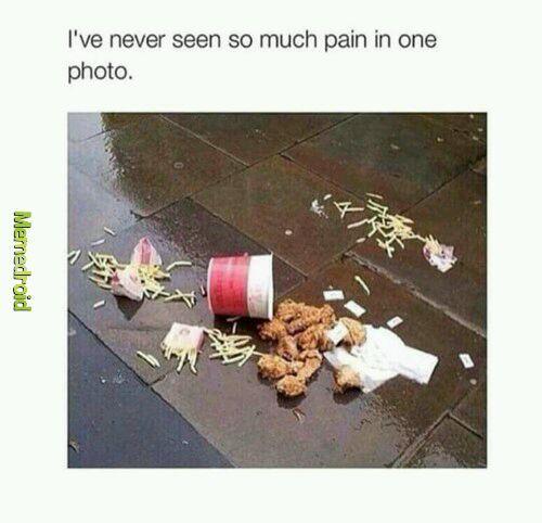 Je n'ai jamais vu autant de tristesse dans une photo - meme