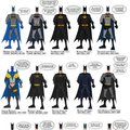 Every Batsuit ever.