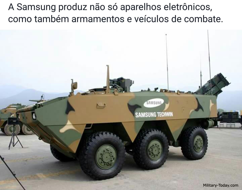 Quero ver se o tanque travar no meio da guerra - meme