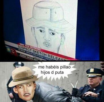 Retrato robot muy realista - meme