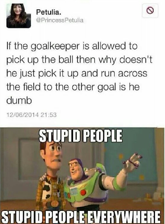 It's called football, not soccer - meme