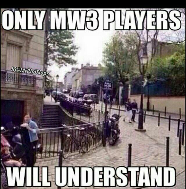 Seulement les joueurs de MW3 peuvent comprendre XD - meme