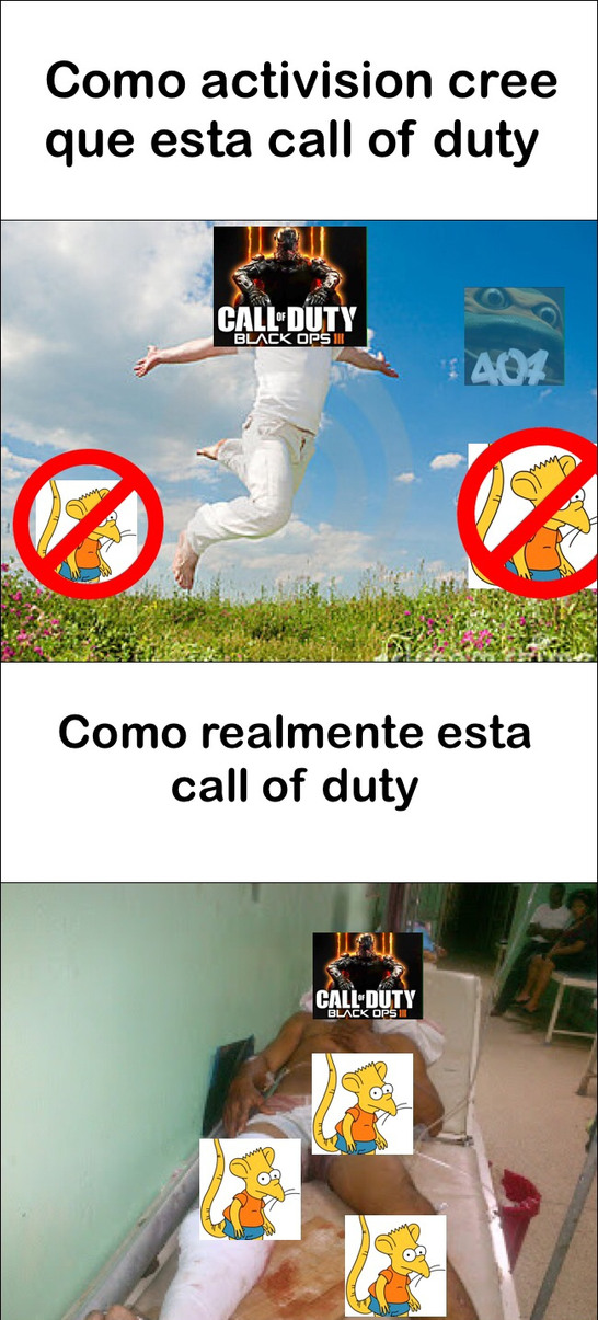Pobre call of duty - meme