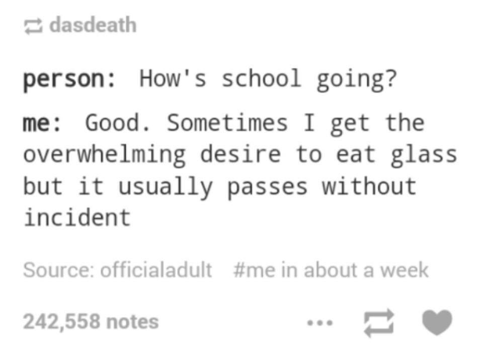 Me in school - meme