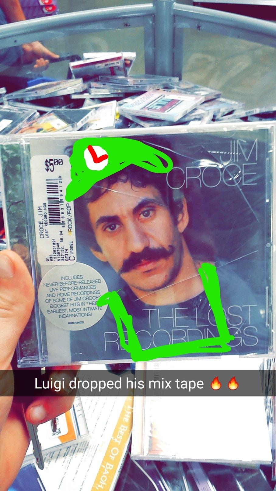 Luigi has fire power - meme