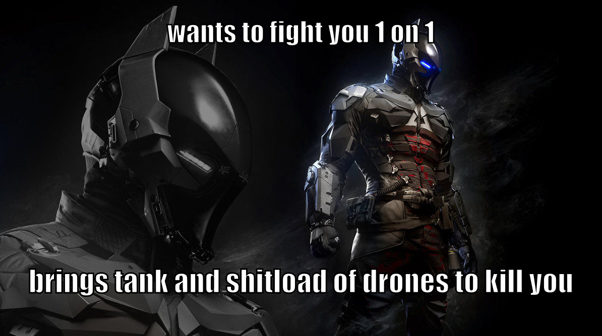 anybody wanna spoil arkham knight for me? - meme