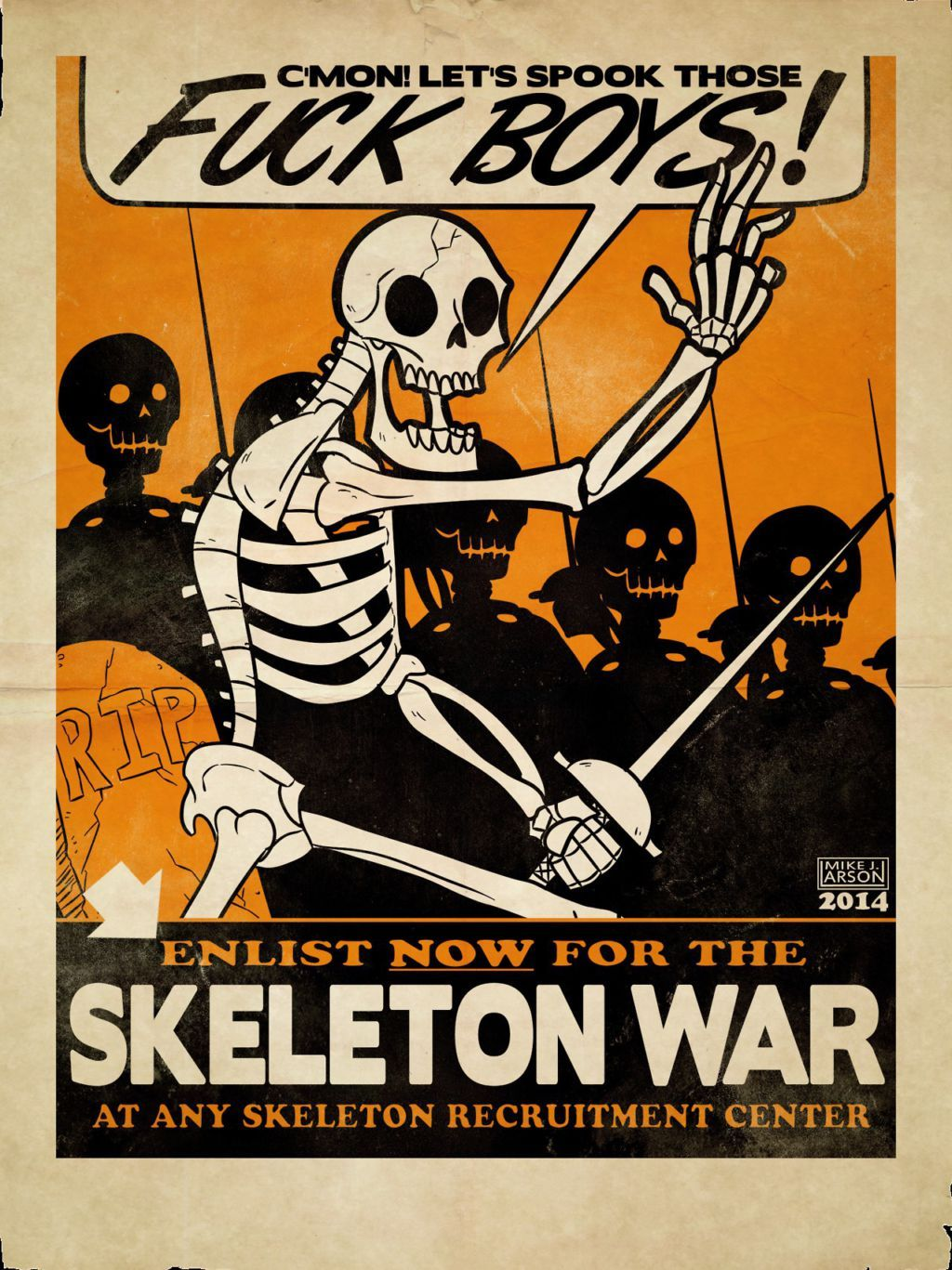 Skeleton War! - meme