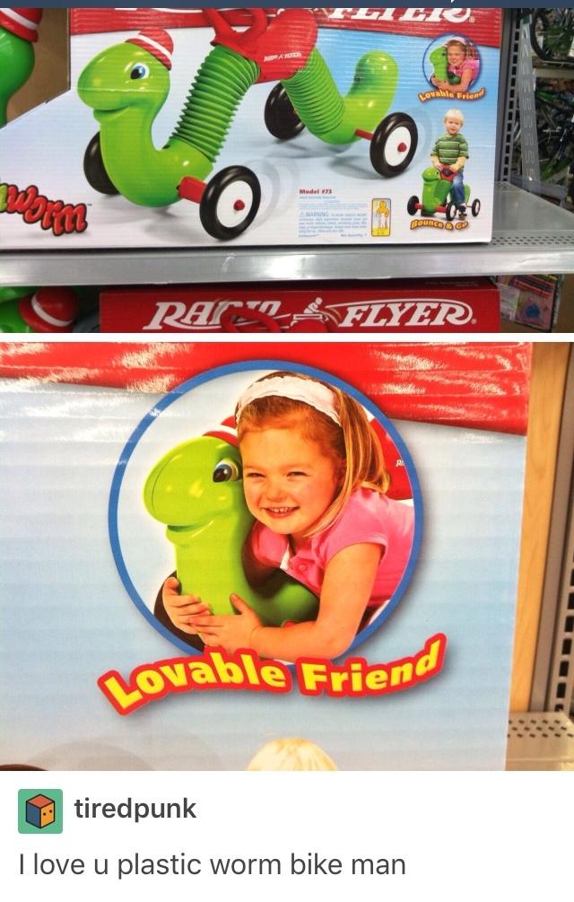 lovable worm - meme