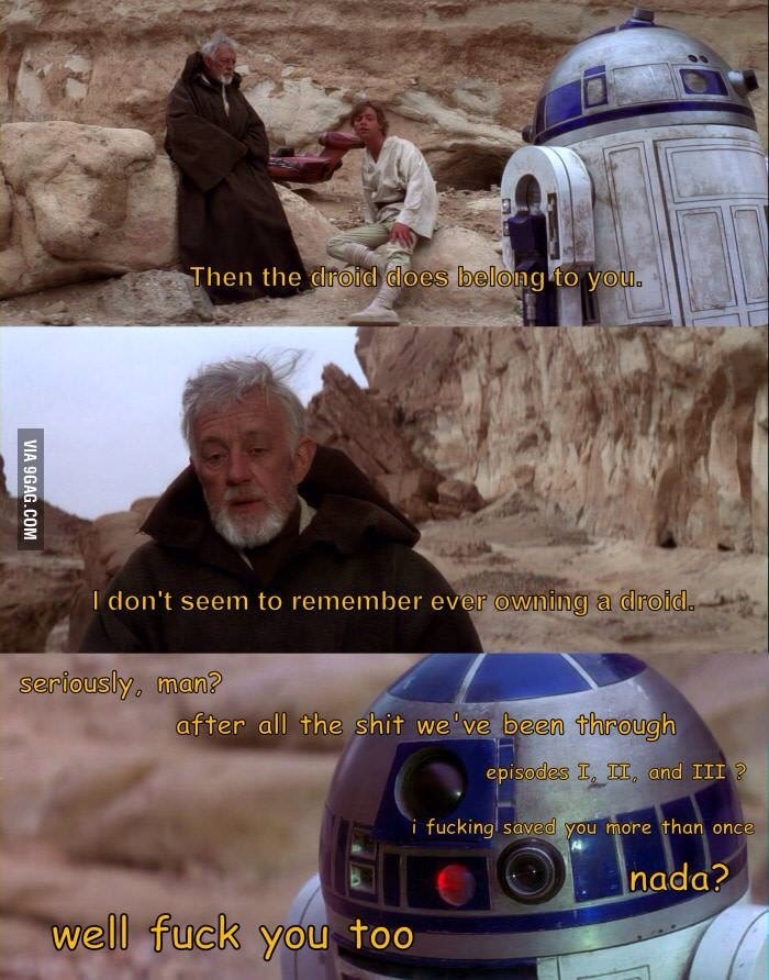 poor R2D2 - meme