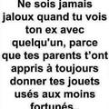Toujours jaloux ?
