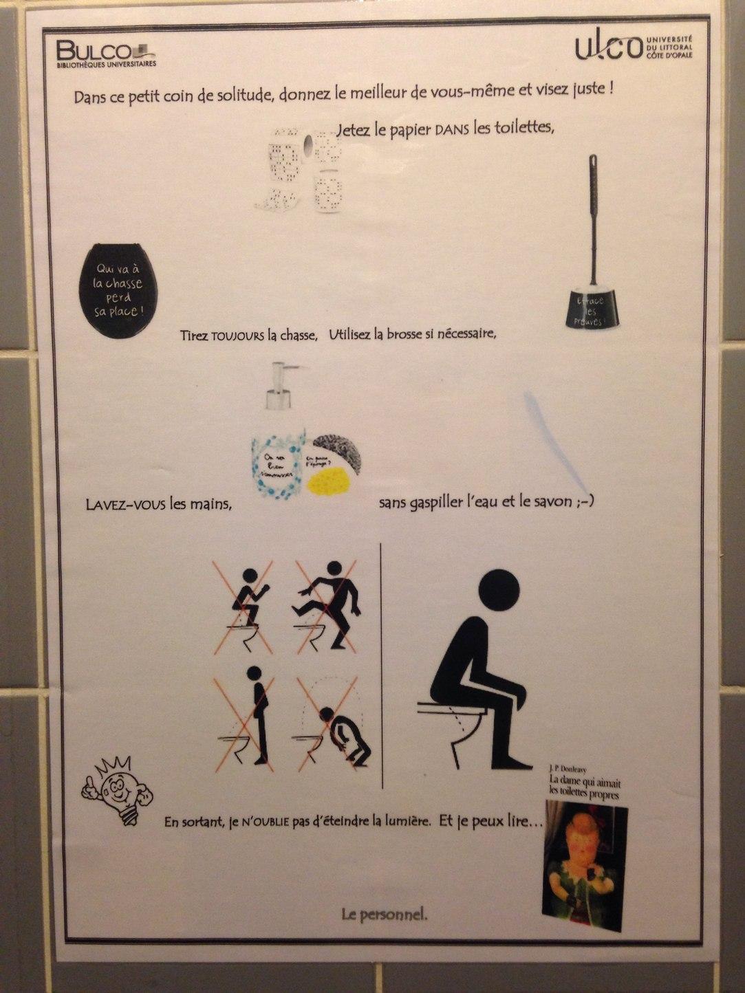 Voilà ce que j'ai vu dans les toilettes d'une bibliothèque... - meme