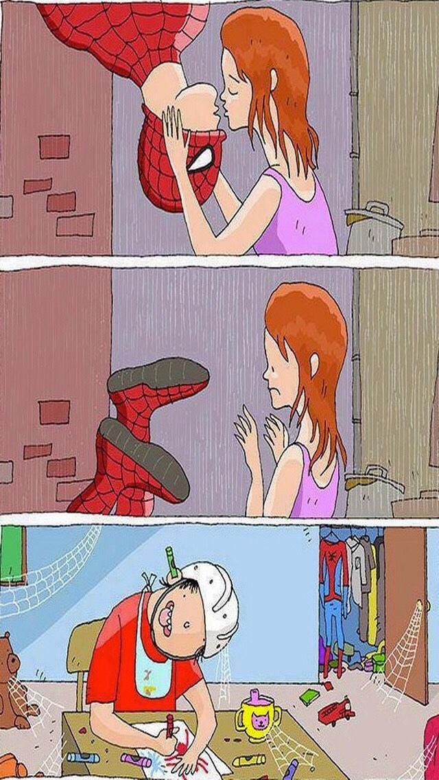 just Spiderman kiss - meme