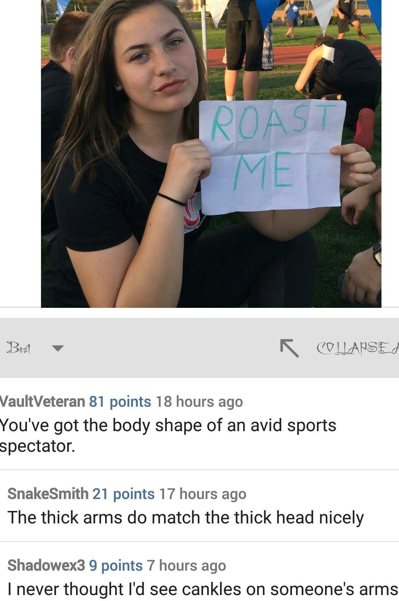 Gotta love roast me - meme