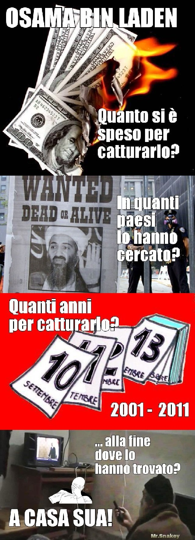 Battuta ironica su Bin Laden... - meme